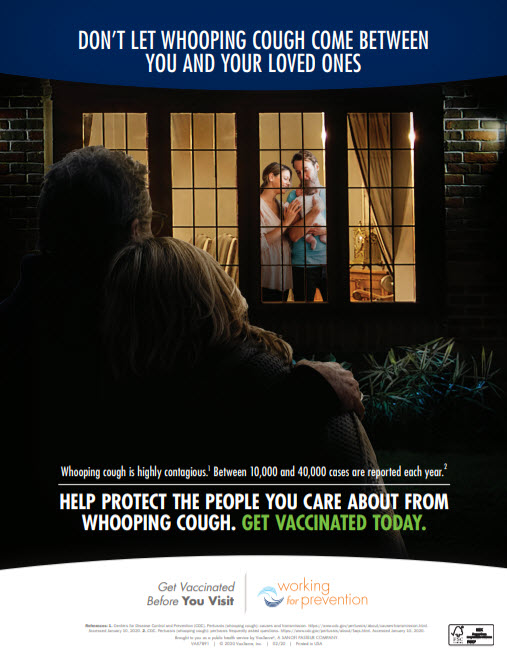 Working for Prevention Pertussis Poster 2